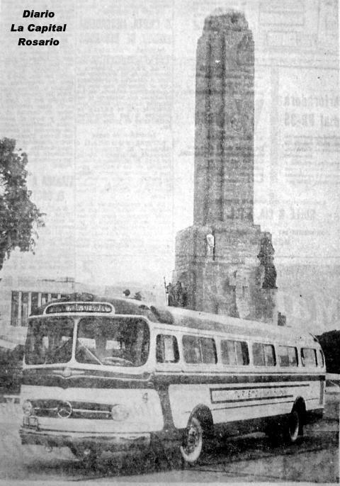 Mercedes San Antonio >> Buses Rosarinos - Monumento a la Bandera Nacional Rosario 50 aniversario